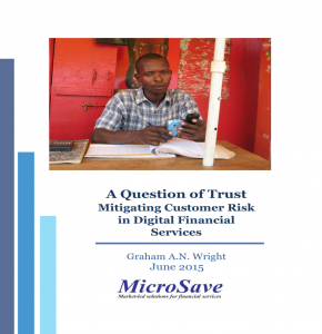 Study by BFA and MicroSave, commissed by CGAP